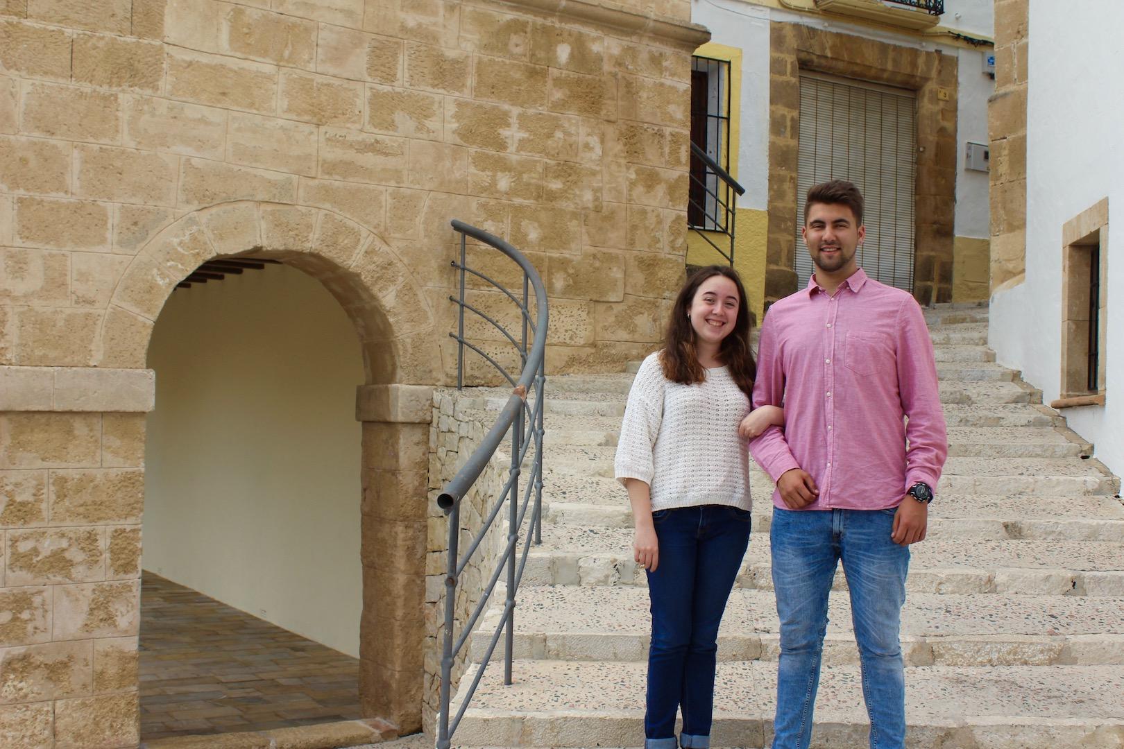 Cristina junto a su acompañante Vicent Castillo Vallés
