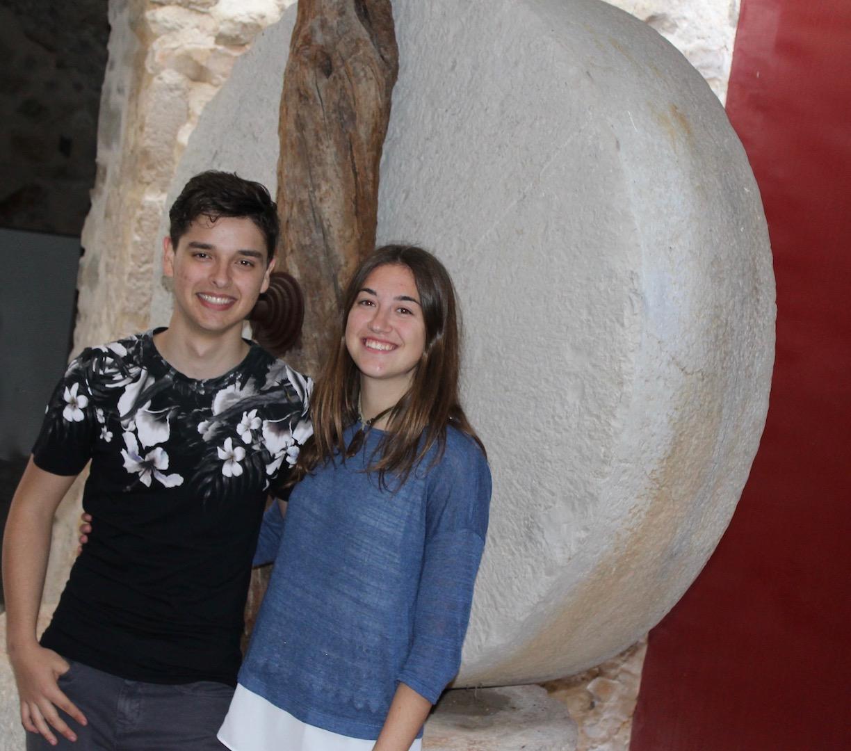 María junto a su acompañante Ferran Navarro Ivars