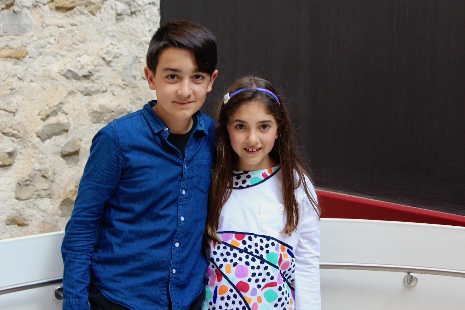 Laura junto a su acompañante Aarón García Gimeno
