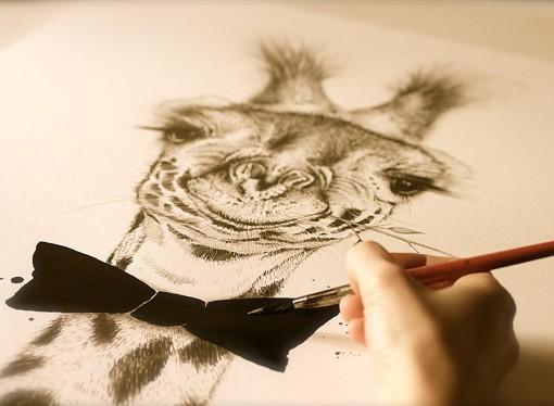 Alba López, la artista que humaniza a los animales
