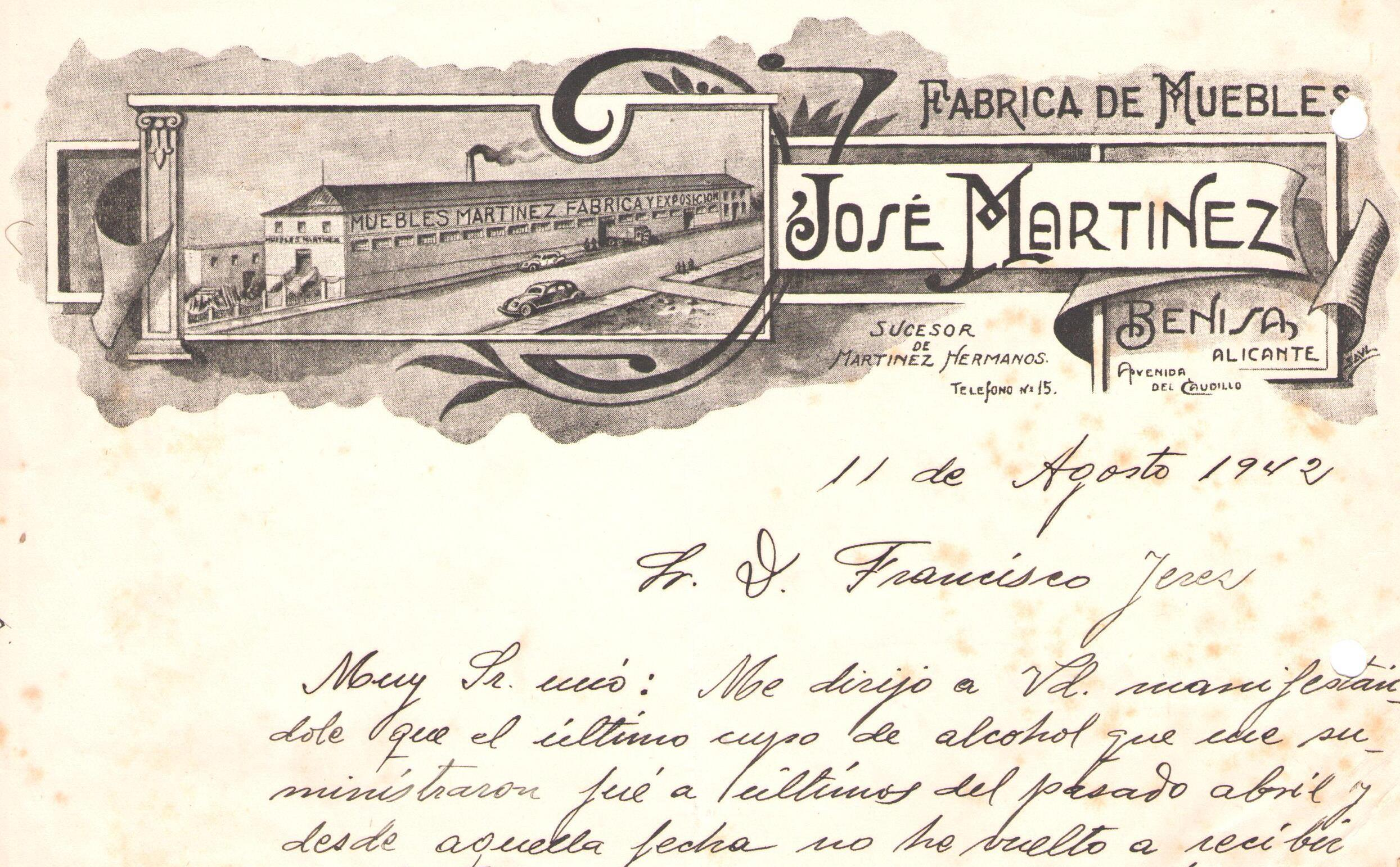 CARTA ANTIGUA MARTINEZ