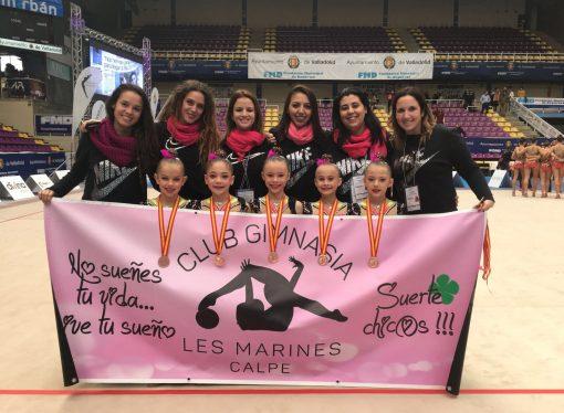 El conjunto Benjamín del Club Les Marines de Calp se proclaman Terceras de España