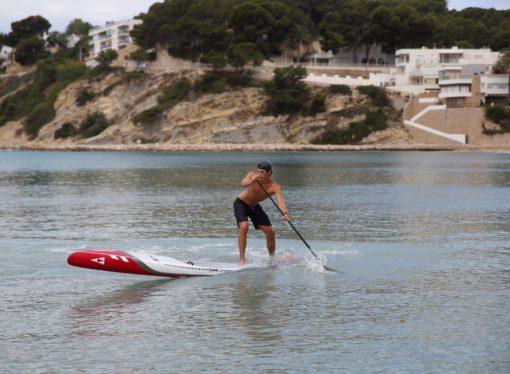 """James Van Drunen: """"Ha sido increíble después de 58 días volver al mar para entrenar paddle surf"""""""