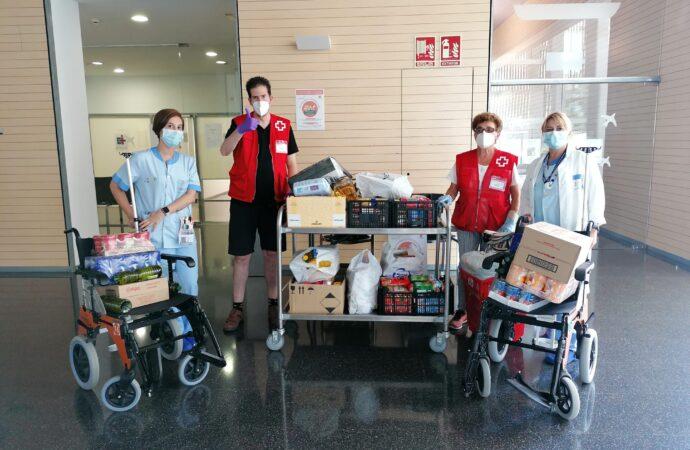 Los profesionales del departamento de Salud donan cerca de 1.000 kilos de alimentos