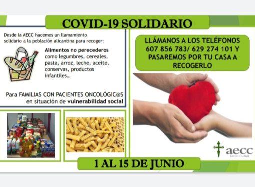 """""""Covid-19 Solidari"""": 11 de juny al Prado d´Ondara arreplegada d´aliments per a famílies amb pacients oncològics"""