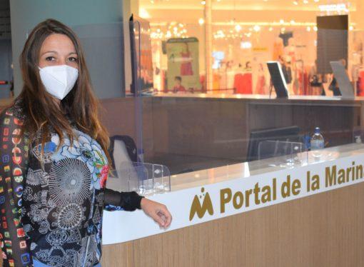 """Virginia Carrasco: """"Los clientes pueden venir tranquilamente y con más seguridad que nunca al CC Portal de La Marina"""""""