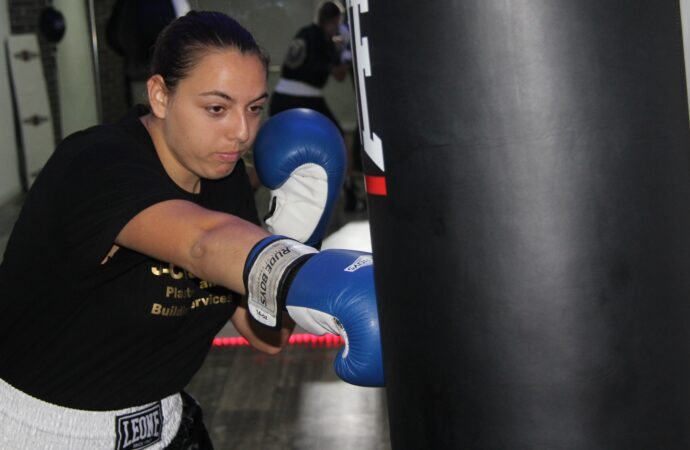 Marina González Zaragozí en el Campeonato de España de Boxeo Olímpico