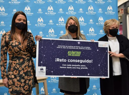 """La acción """"Kilómetros solidarios"""" de Portal de la Marina consigue su reto"""