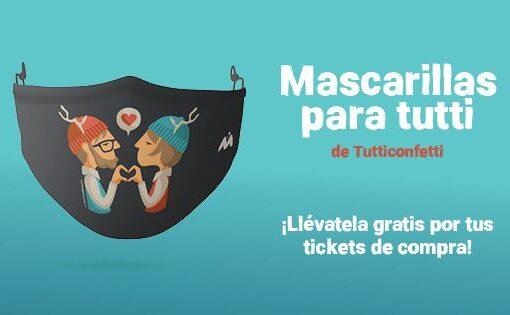 Portal de la Marina regala mascarillas diseñadas por la artista Tutticonfetti