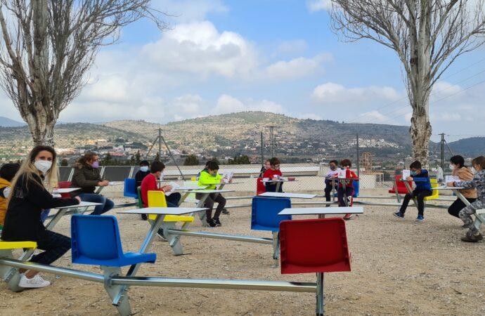 Las aulas exteriores convierten a la comunidad educativa de Benissa en pionera de toda la Comunitat Valenciana