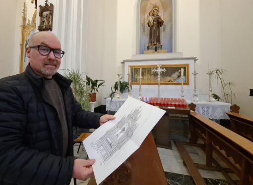 Así será el retablo del altar de San Antonio de la Iglesia Parroquial de la Puríssima Xiqueta de Benissa