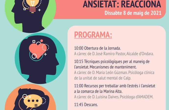 Ondara acoge el 8 de mayo la jornada de Salud Mental de Amadem
