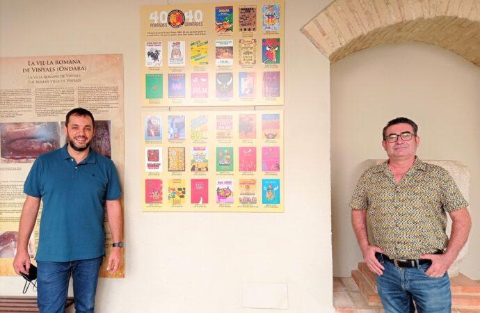 El Claustre de l´Ajuntament d´Ondara acull l´exposició de 40 anys de portades de llibres de Sant Jaume