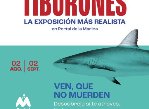 La exposición más realista de tiburones en Portal de la Marina