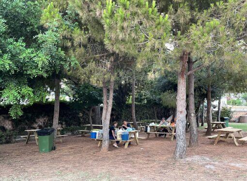 Las inmediaciones de la playa de les Platgetes de Moraira estrena nuevo merendero