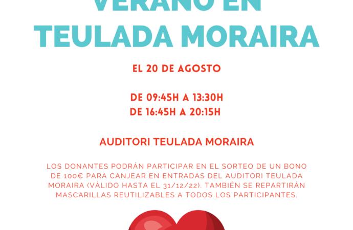 """""""VII Maratón de Verano"""" de donación de sangre en Teulada Moraira el 20 de agosto"""